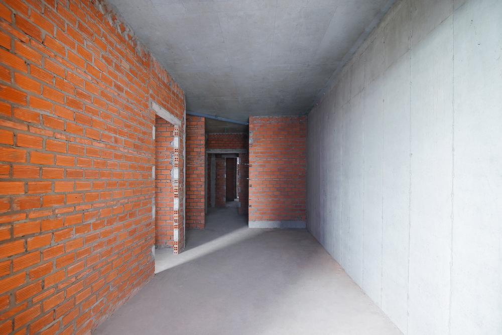 Xây tường căn hộ từ tầng 5 đến tầng 19 Block Saturn